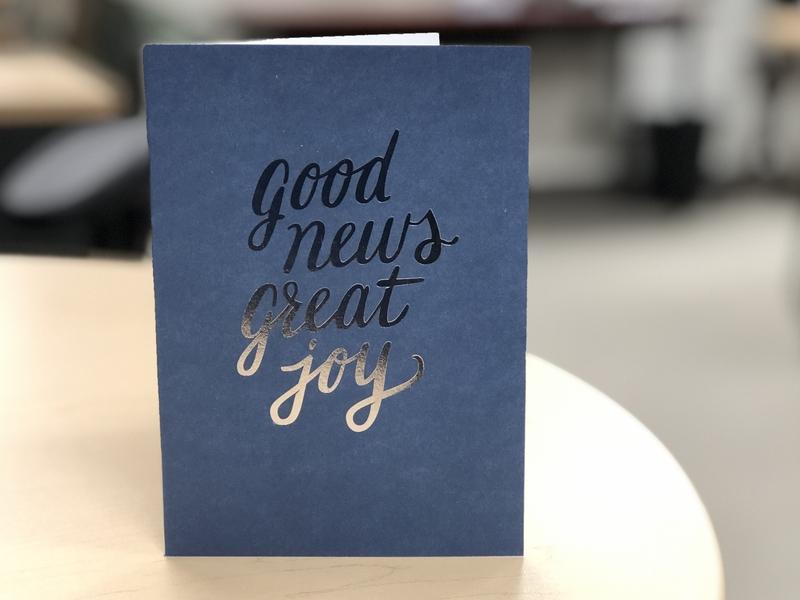 good news great joy hotfoil christmas card