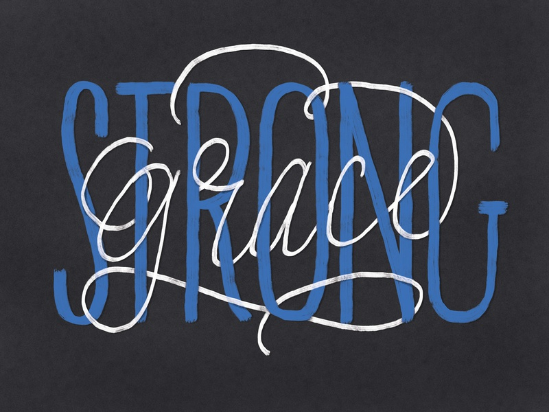 strong grace hand lettering typography lettering