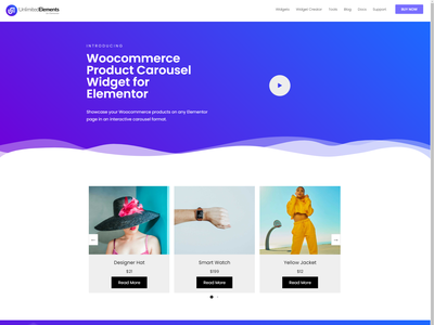 Woocommerce Product Carousel   Unlimited Elements for Elementor animation web design illustration logo branding