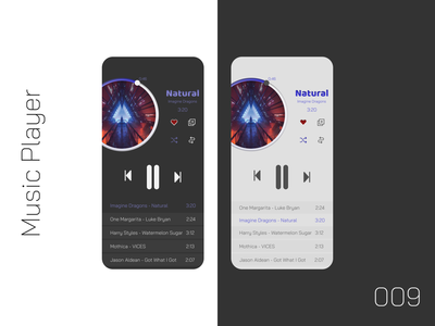 Music Player - Daily UI 009 009 figmadesign figma design ui daily ui daily ui challenge music player app music player ui music player