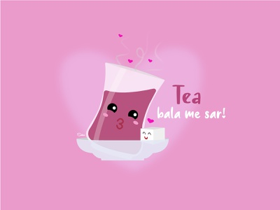 chai lovestory digital illustration illustrator character design tea suger character chai