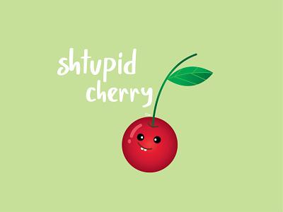 shtupid cherry digital illustration illustrator character cherry