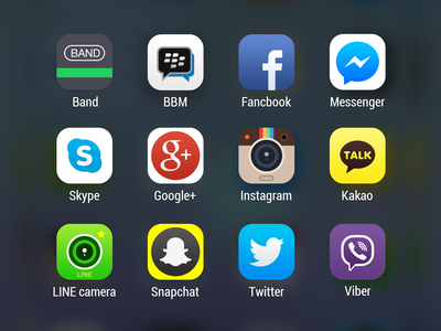 Social Apps icon redesign for ios 8
