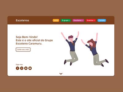 Scout Group Landing Page ux web webdesign design website landingpage scouts