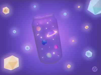 Space Soda Can 3d soda can space galaxy 3d illustration blender 3d art design illustration