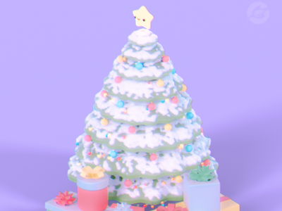 Xmas Tree christmas softart xmas render 3dillustration 3dartwork 3dmodelling 3dmodel 3dartist 3dart digitalart blenderart blender3d blender cyclesrender cycles blendercycles blenderrender b3d