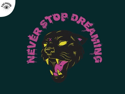 Never stop dreaming clothing design vector t-shirt illustration ill graphic design