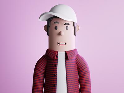 smiling boy - 3d character character illustration 3d character character c4d blender 3d illustration 3d design 3d