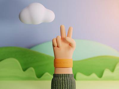 3d hand gesture blender hand gestures hand 3d 3d art 3d character 3d illustration 3d design