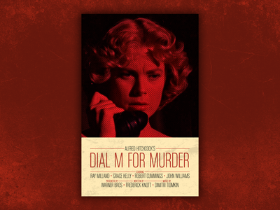 Hitchcock - Dial M for Murder movie poster retro poster poster print design alfred hitchcock grace kelly movie film poster movie poster hitchcock poster hitchcock