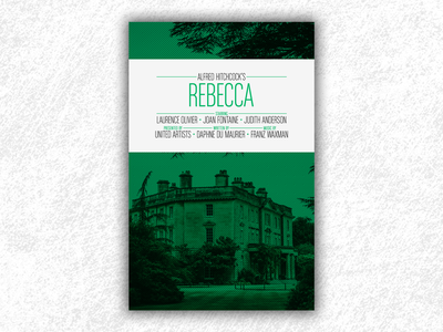 Rebecca (Hitchcock movie poster) rebecca poster rebecca hitchcock movie poster film poster movie design print poster