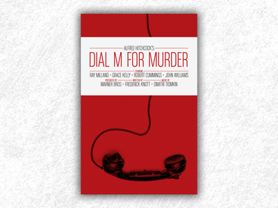 Dial M For Murder (Hitchcock movie poster) dial m for murder poster dial m for murder hitchcock movie poster film poster movie design print poster