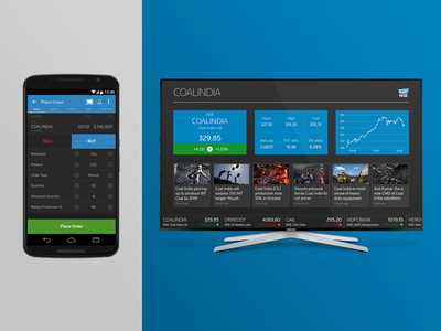 Second Screen UI Concept android second-screen chromecast trading ui