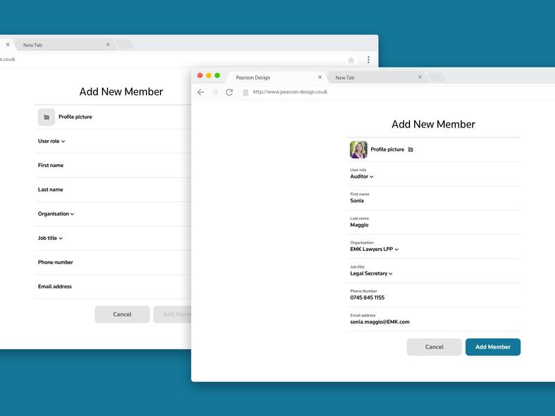 New User Form add member user form new member new user