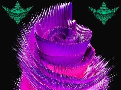 psychedelic flower 2 flowers psychedelic flower design photoshop graphicdesign graphicart
