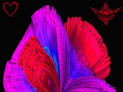 My heart psychedelic flower design photoshop graphicdesign graphicart