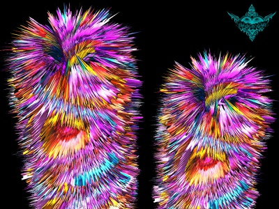 King&Queen-1 psychedelic design photoshop graphicdesign graphicart flower
