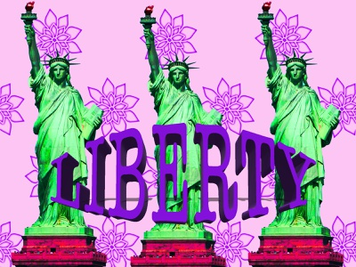 MISS LIBERTY manhattan new york statue of liberty collage design photoshop graphicdesign graphicart