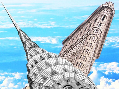 New York new york manhattan collage design photoshop graphicdesign graphicart