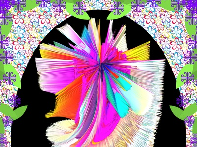 Graphic Flower 2 psychedelic flower graphicdesign photoshop