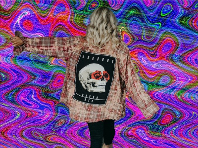 Rock Woman collage psychedelic graphicdesign photoshop
