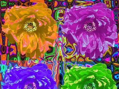 Botan Pop 2 清水公園 牡丹 collage psychedelic flower graphicart photoshop