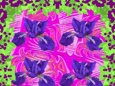 Ayame Psychedelic 1 psychedelic park collage flower graphicart graphicdesign photoshop