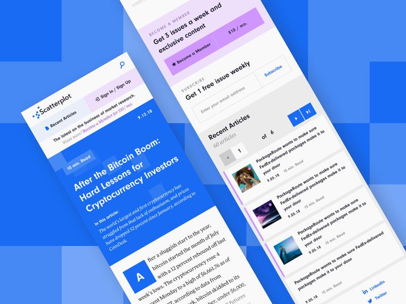 Scatterplot News - Mobile