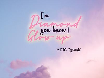 Dynamite by BTS design typography