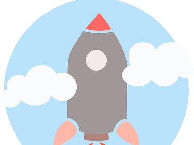Rocket Logo vector illustration logo design