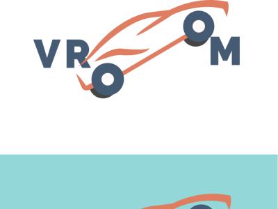 Driverless Car Logo branding logo typography flat design