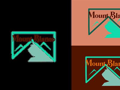 Ski mountain logo icon minimal flat logo design