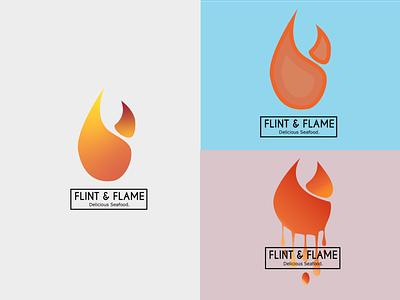 Daily_Flame Logo minimal branding flat logo
