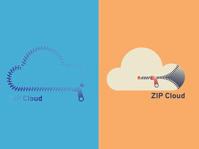 Cloud Computing Logo minimal branding flat logo design