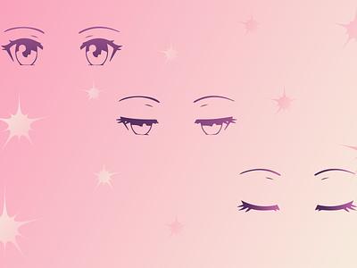 Anime girl illustration flat design