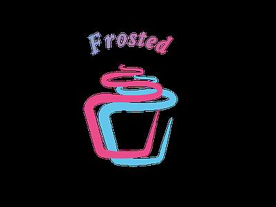Cupcake Logo illustration minimal vector branding flat logo
