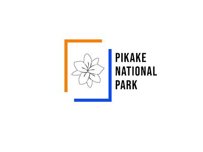 National Park Logo typography minimal flat logo design