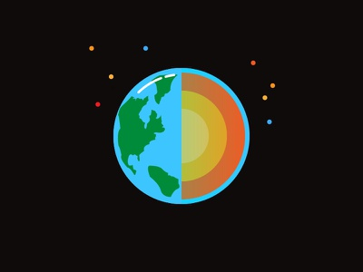 Earth and its layers. vector earth illustraion