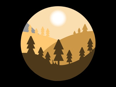 Trees everywhere. mountains illustration earth vector