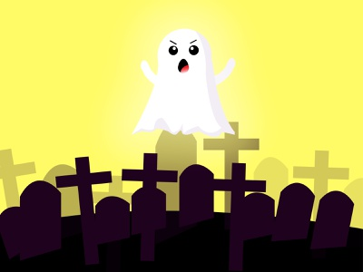 Baby Ghost. cold graphic design halloween ghost illustration vector