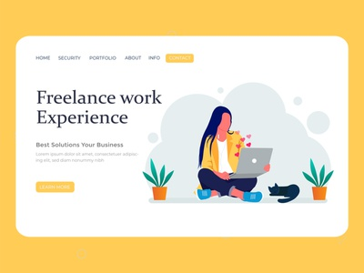 Freelance work vector illustration vector ux ui typography painter logotype landing page ui landing page illustrator illustration art illustration flat vector digital concept character design business character branding art