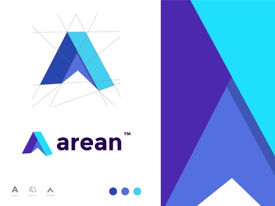 Modern A letter logo for Arean TENT COMPANY app icon vector logodesign gfxhouse illustration branding brand and identity designer logo trending colorful modern typeface wordmark logotype lettermark logo a letter