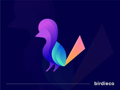 Modern Pictorial mark logo Birdieco app icon logodesign designer guidlines brand identity gfxhouse colorful abstract logotype branding typogaphy icon letter design bird logo mark