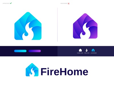 Modern Abstract logo for FireHome app icon brand and identity branding agency branding logo design branding business identity lettering logo letter logo logodesigns logodesign logo logotype minimal modern fire home home house mark gfxhouse ecommerce