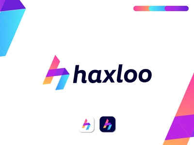 haxloo modern logo lettering minimal illustration modern logo letter logo gradient logo letter mark modern color overlay k letter logo branding abstract logo gfxhouse logotype branding agency logodesign logo designer brand and identity app icon logo design branding