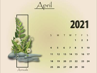 April 2021 april calendar