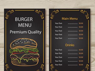 Menu Design burger menu burger menu design