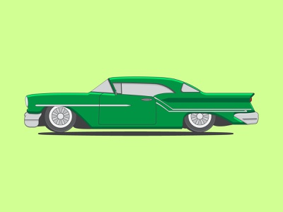 Lowrider Car flat flatdesign flat design ilustrator lowrider vector art vector learn illustration design car