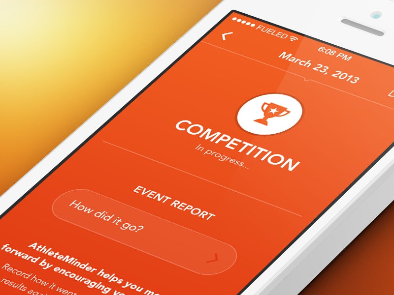 On your marks... sport colour orange competition icon ui