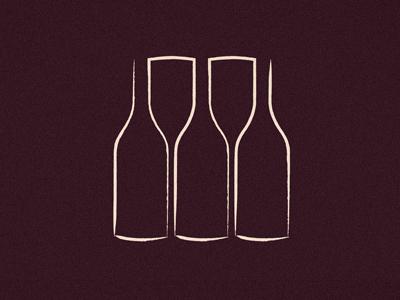 Bottle Glass Illustration wine bottle glass logo illustration